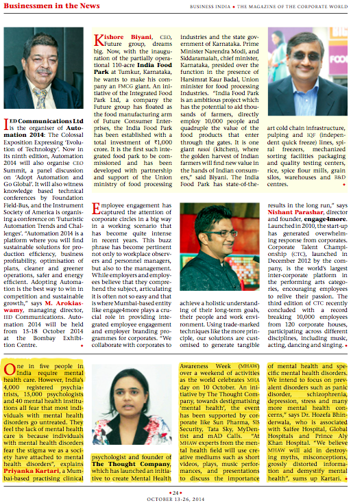 Business India - October 13-26, 2014